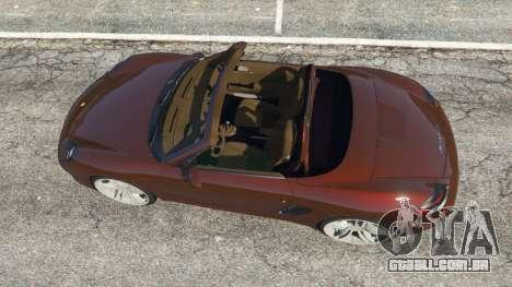 GTA 5 Porsche Boxster S 987 2010 voltar vista
