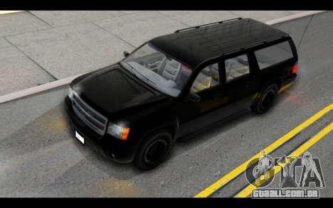 GTA 5 Declasse Granger FIB IVF para GTA San Andreas vista interior