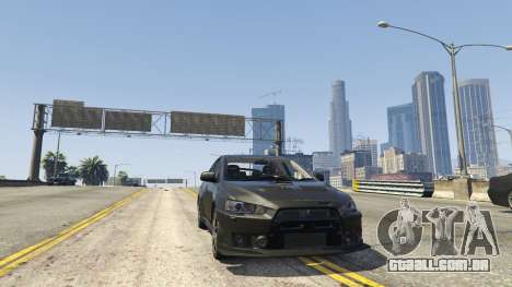 GTA 5 Mitsubishi Lancer Evolution X FQ-400 v2 traseira direita vista lateral