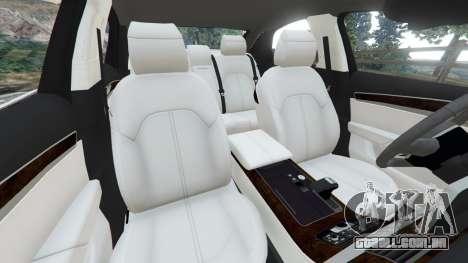 GTA 5 Audi S8 Quattro 2013 v1.2 vista lateral direita