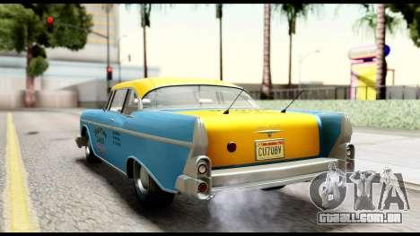 GTA 5 Declasse Cabbie v2 IVF para GTA San Andreas esquerda vista