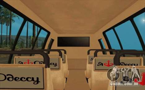 Iveco Custom Odessa para GTA San Andreas traseira esquerda vista