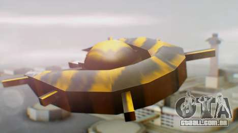 Alien Ship Yellow-Black para GTA San Andreas esquerda vista