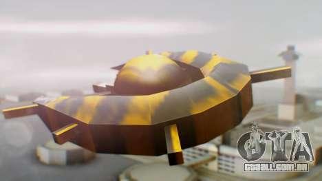Alien Ship Yellow-Black para GTA San Andreas esquerda vista