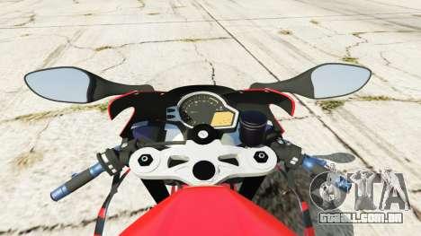 GTA 5 Honda CBR1000RR [Red] traseira direita vista lateral