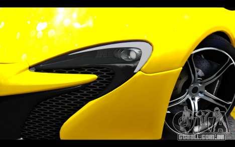 McLaren 650S Coupe para GTA San Andreas vista traseira