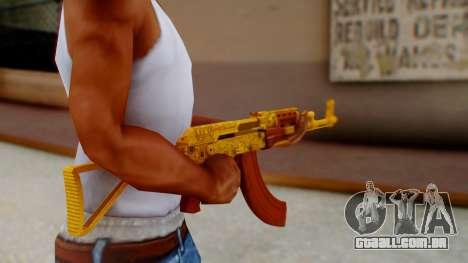 GTA 5 Assault Rifle Luxury Camo para GTA San Andreas terceira tela