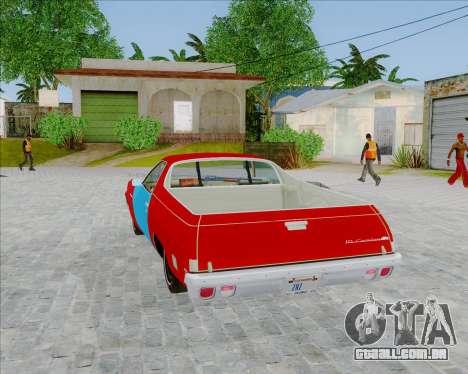 Chevrolet El Camino My Name is Earl v1.0 para GTA San Andreas esquerda vista