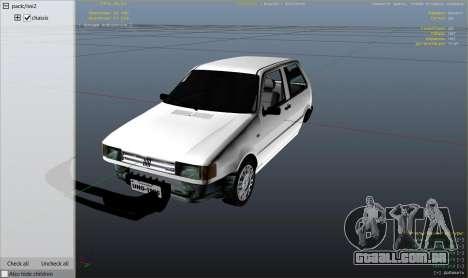 GTA 5 Fiat Uno 1995 vista lateral direita