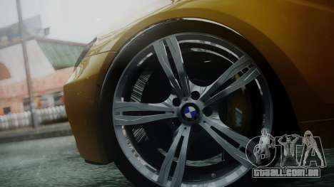 BMW M6 2013 para GTA San Andreas traseira esquerda vista