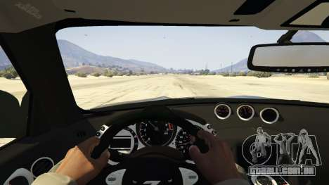 GTA 5 Nissan 370z v2.0 traseira direita vista lateral