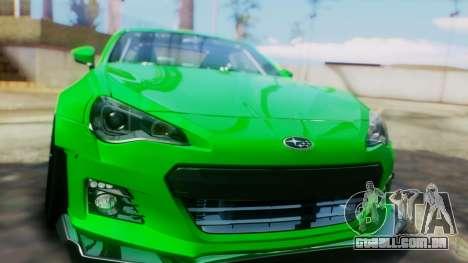 Subaru BRZ 2013 Rocket Bunny para GTA San Andreas vista interior