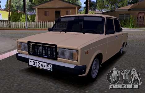VAZ 2107 KBR para GTA San Andreas esquerda vista