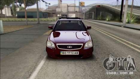 Lada Priora Ukrainian Stance para GTA San Andreas vista direita