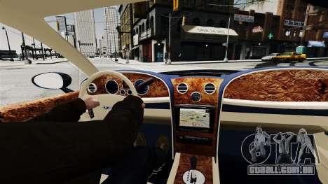 Bentley Continental 2010 Flying Spur Beta para GTA 4 vista direita