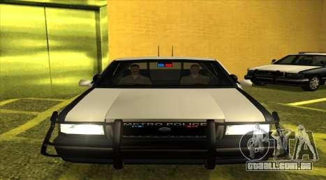 Police SF para GTA San Andreas traseira esquerda vista