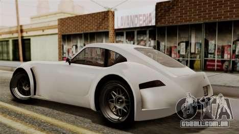 GTA 5 Bravado Verlierer IVF para GTA San Andreas traseira esquerda vista