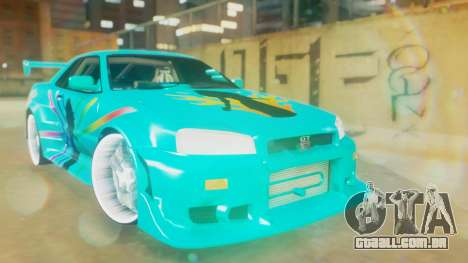 Nissan Skyline GT-R R34 Cyan Edition 2001 para GTA San Andreas