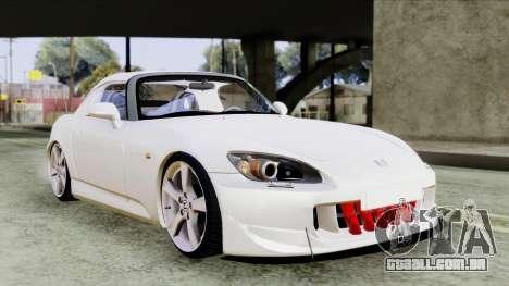 Honda S2000 SüvariGaragee para GTA San Andreas