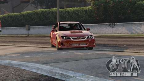 GTA 5 2011 Subaru Impreza STI voltar vista
