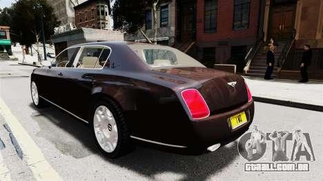 Bentley Continental 2010 Flying Spur Beta para GTA 4 vista interior