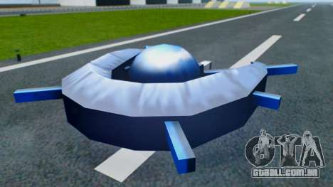 Alien Ship Dark Blue para GTA San Andreas vista direita