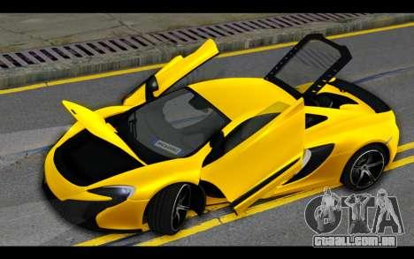 McLaren 650S Coupe para o motor de GTA San Andreas