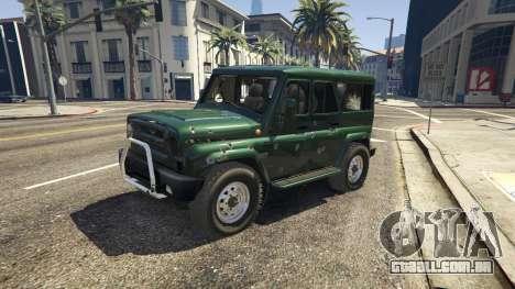 GTA 5 УАЗ 3159 Porpoising frente vista lateral direita