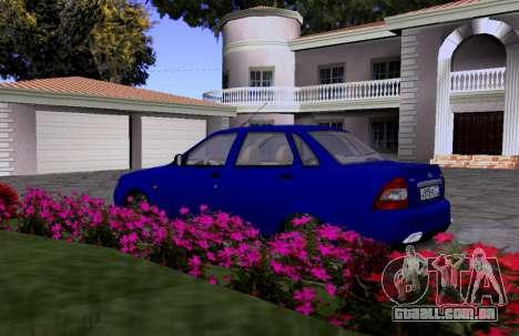 VAZ 2170 KBR para GTA San Andreas vista traseira