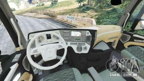 GTA 5 Mercedes-Benz Actros Euro 6 [Coca-Cola] traseira direita vista lateral