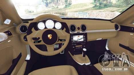 GTA 5 Porsche Boxster S 987 2010 traseira direita vista lateral