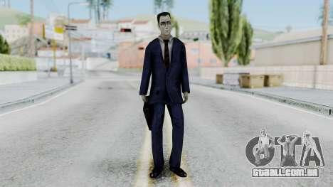 GMAN v1 from Half Life para GTA San Andreas segunda tela