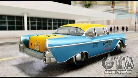 GTA 5 Declasse Cabbie v2 IVF para GTA San Andreas traseira esquerda vista