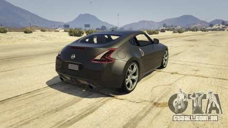 GTA 5 Nissan 370z v2.0 traseira vista lateral esquerda