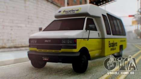 GTA 5 Rental Shuttle Bus Escalera Livery para GTA San Andreas