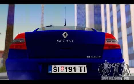Renault Megane Sedan para GTA San Andreas vista interior