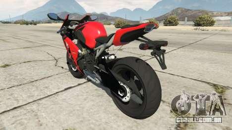 GTA 5 Honda CBR1000RR [Red] traseira vista lateral esquerda