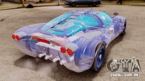 Ferrari P7 Crystal para GTA San Andreas esquerda vista