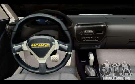 Honda Civic 1.6 para GTA San Andreas vista direita