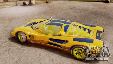 Ferrari P7 Gold para GTA San Andreas traseira esquerda vista