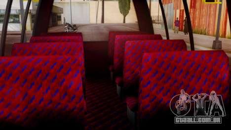 GTA 5 Rental Shuttle Bus Touchdown Livery para GTA San Andreas vista traseira