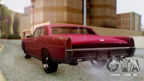 GTA 5 Vapid Chino Tunable PJ para GTA San Andreas esquerda vista