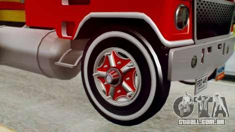 Ford 9000 Con Estacas Stylo Colombia para GTA San Andreas traseira esquerda vista