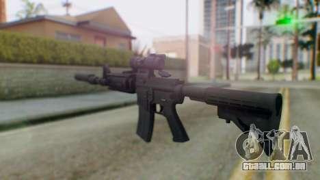 Arma Armed Assault M4A1 Aimpoint Silenced para GTA San Andreas segunda tela