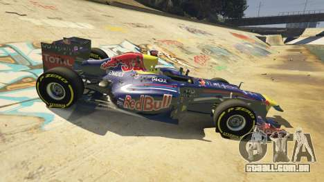 GTA 5 Red Bull F1 v2 redux frente vista lateral direita