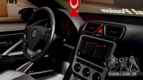 Volkswagen Scirocco R Army Edition para GTA San Andreas vista direita