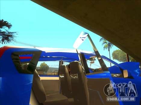 Nissan Note v0.5 Beta para GTA San Andreas vista superior