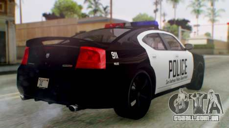 New Police LV para GTA San Andreas esquerda vista
