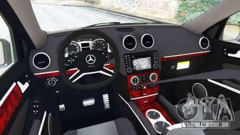 GTA 5 Mercedes-Benz ML63 (W164) 2009 traseira direita vista lateral