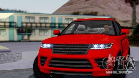 GTA 5 Gallivanter Baller LE LWB Arm para GTA San Andreas